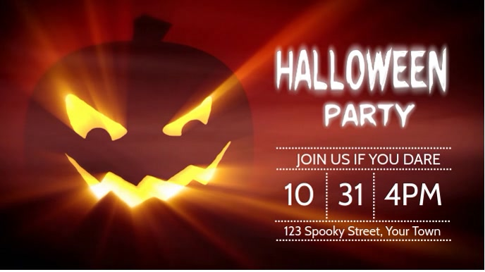 Halloween Party Digitale display (16:9) template