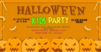 Halloween party Facebook-advertentie template