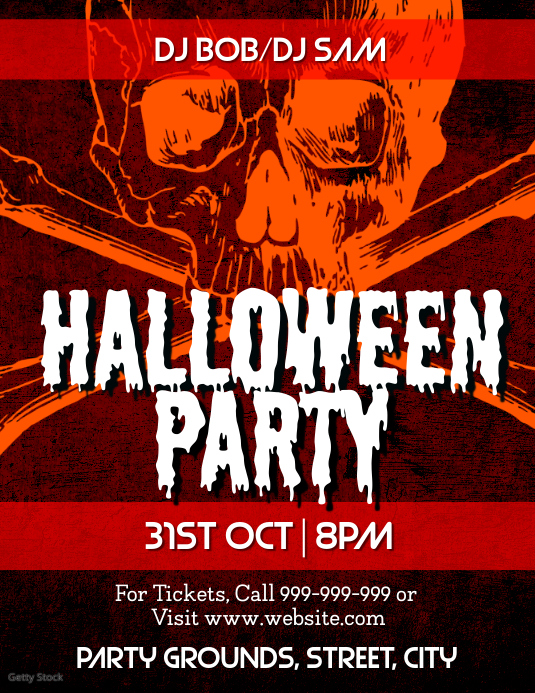 Halloween Party Volante (Carta US) template
