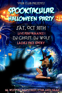 Halloween Party Design Poster template