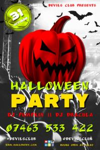 Halloween Party Плакат template