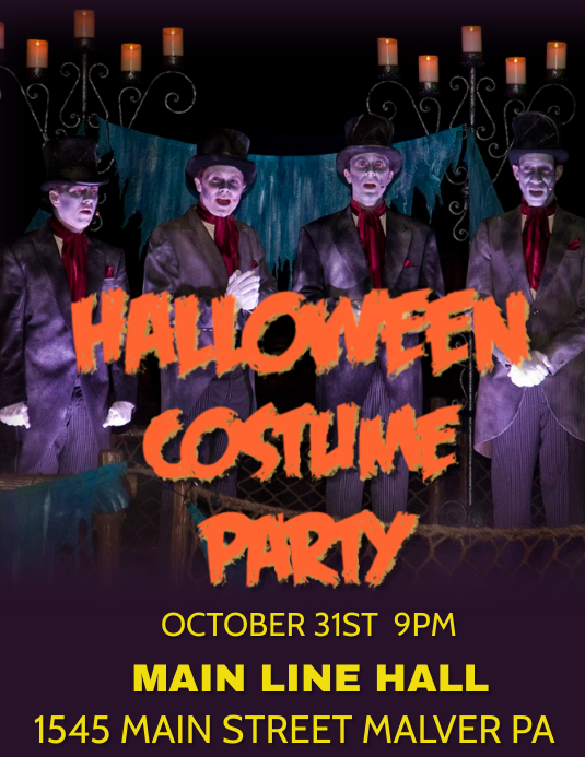HALLOWEEN PARTY Pamflet (Letter AS) template