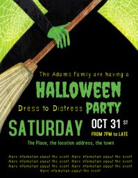 Halloween Party invitation invite template