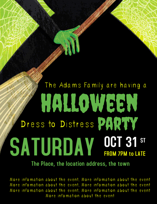 Halloween Party invitation invite template