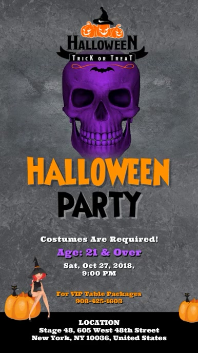 Halloween Party Digital Display Video