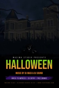 Halloween Party Event Flyer Poster template