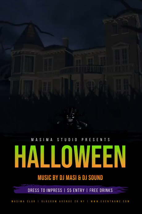 Halloween Party Event Flyer Affiche template