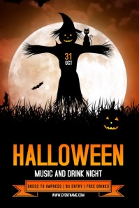 Halloween Party Event Flyer 海报 template