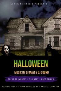 Halloween Party Event Flyer Póster template