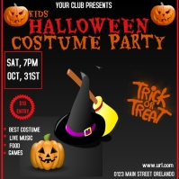 Halloween party event flyer Wpis na Instagrama template