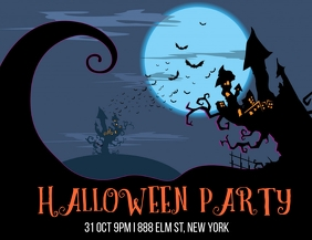 Halloween Party Event Flyer Volante (Carta US) template