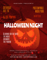 Halloween Party Event Flyer Template