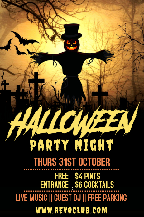 Halloween Party Event Poster Template