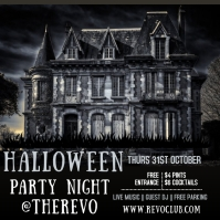 Halloween Party Event Template Carré (1:1)