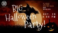 Halloween party event video blog header template