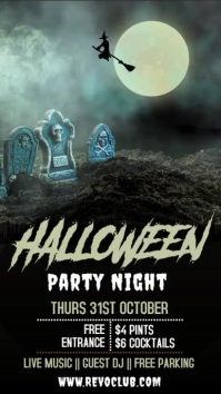 Halloween Party Event Video Template Цифровой дисплей (9 : 16)