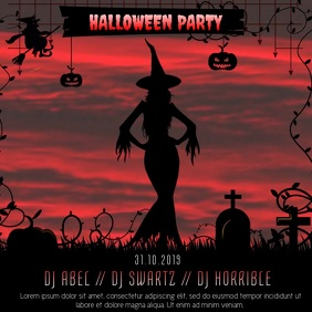 Halloween Party Event Video Template Instagram Post
