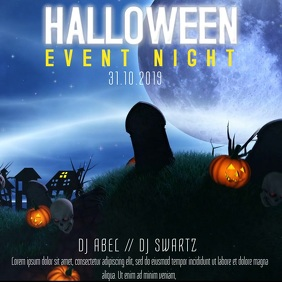 Halloween Party Event Video Template