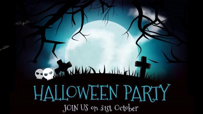 Halloween Party Event Video Template Pantalla Digital (16:9)