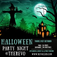 Halloween Party Event Video Template Square (1:1)