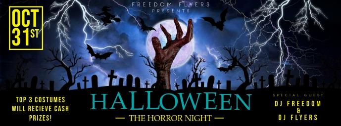 Halloween Party Facebook Cover Ikhava Yesithombe se-Facebook template