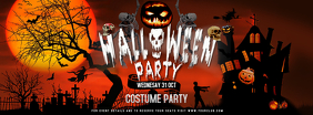 Halloween Party Facebook Cover Photo template