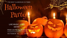 Halloween Party Facebook Cover Video