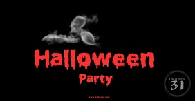 Halloween party facebook post video template
