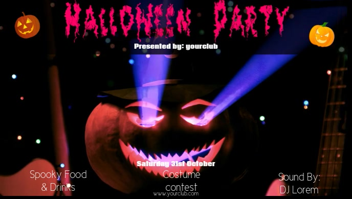 Halloween Party Facebook video Video