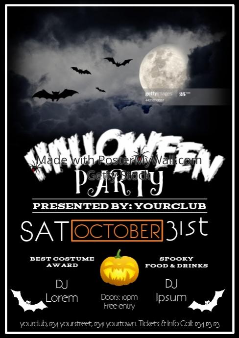 Halloween Party Flyer Advert