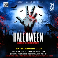 Halloween Party Flyer Square (1:1) template