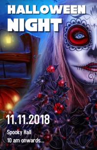 Halloween party flyer Tabloid (Таблоид) template