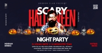 Halloween Party flyer Facebook Ad template