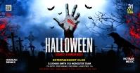 Halloween Party Flyer Изображение, которым поделились на Facebook template