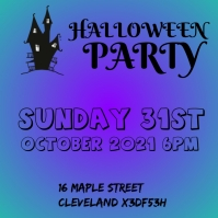 Halloween Party Flyer Pos Instagram template