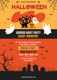Halloween Party Flyer A6 template