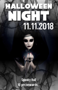 Halloween party flyer Tabloid template