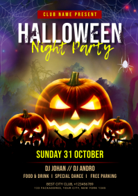 Halloween Party Flyer A4 template