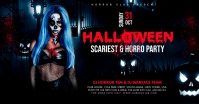 Halloween Party Flyer Facebook Shared Image template