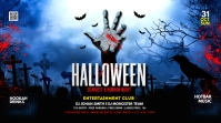 Halloween Party Flyer Iphosti le-Twitter template