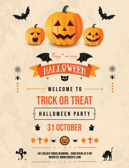 Halloween Party Flyer Iflaya (Incwadi ye-US) template