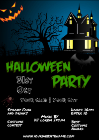 Halloween Party Flyer Event Template A4