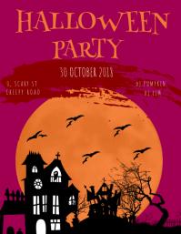 HALLOWEEN PARTY FLYER TEMPALTE