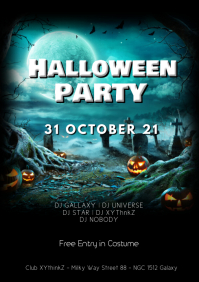 Halloween party Flyer Template Advert event