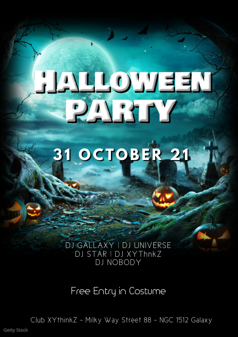 Halloween party Flyer Template Advert event