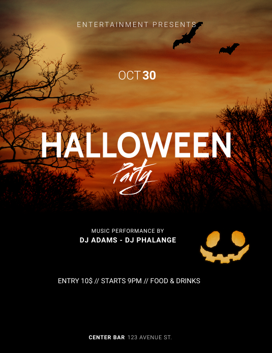 Halloween Party Flyer Template ใบปลิว (US Letter)