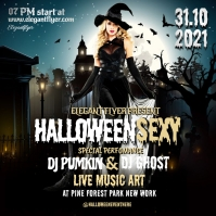 Halloween party flyer template Iphosti le-Instagram