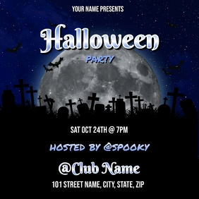 HALLOWEEN PARTY FLYER TEMPLATE Album Cover