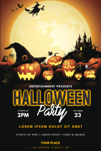 Halloween Party Flyer Template Poster
