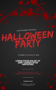 Halloween Party Flyer Template Portada de Kindle
